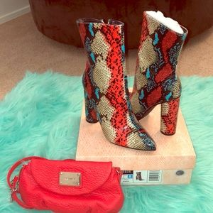 Snake Print Ankle Boot and Nine West Crossbody
